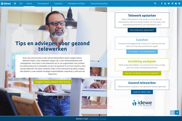 Website telewerk IDEWE